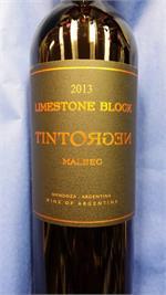 TINTONEGRO MALBEC LIMESTONE BLOCK 2015 JS92 750ml