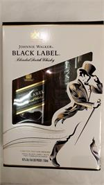 JOHNNIE WALKER BLACK GLASS SET 750ml