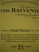 BALVENIE 21 YRS PORT WOOD 750ml