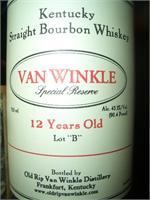 VAN WINKLE 12 YEAR SPECIAL RESERVE LOT B 750ml