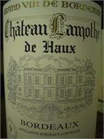 CHT. LAMOTHE  BORDEAUX WHITE 750ml