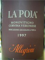 ALLEGRINI  LA POJA 1997 750ml