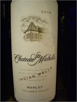 CHT. STE MICHELLE MERLOT INDIAN WELLS 2013 WS90 750ml